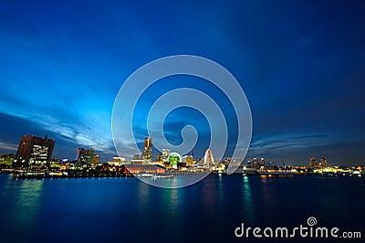 Japan Yokohama City wide view