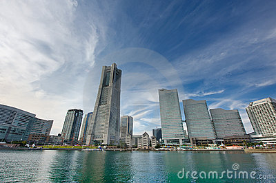 Japan Yokohama Landmark Tower Editorial Stock Photo