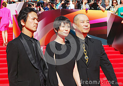 Japanese actors at Moscow Film Festival Editorial Photography