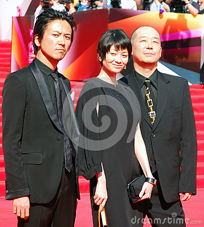 Japanese actors at Moscow Film Festival Editorial Stock Image