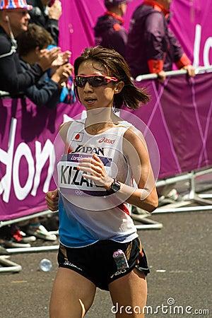 Japanese athlete Ryoko Kizami Editorial Image