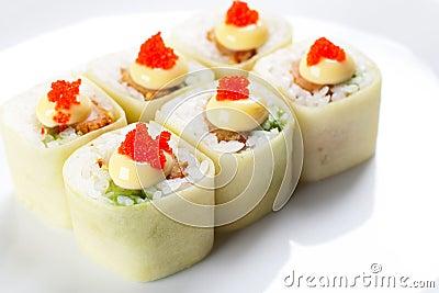 Japanese bamboo rolls