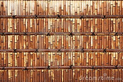 Japanese bamboo wall