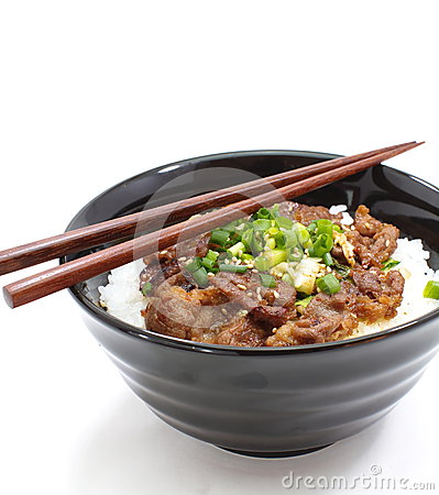 Japanese Beef Bowl, Gyudon Royalty Free Stock Images - Image: 28875489