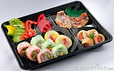 Japanese bento lunchbox isolated