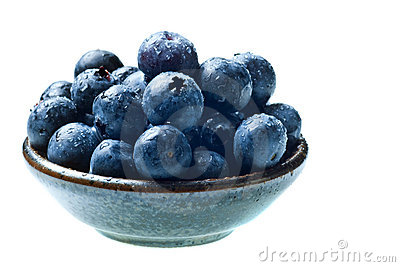 Japanese bowl with blueberries