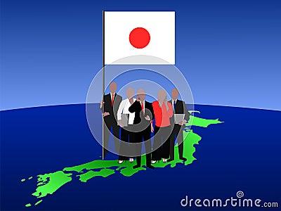 Japanese business team