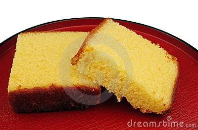 Japanese cake on a plate