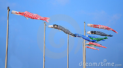 Japanese carp-shape flags