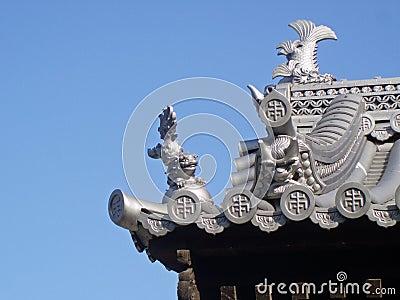 Japanese Castle Roof Detail