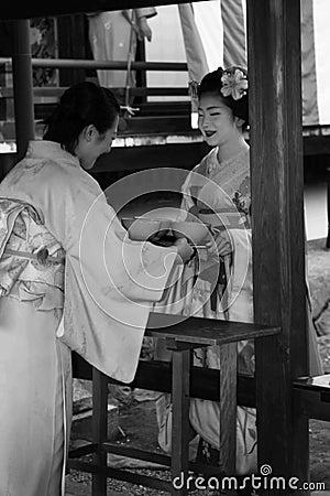 Japanese ceremony Editorial Stock Photo