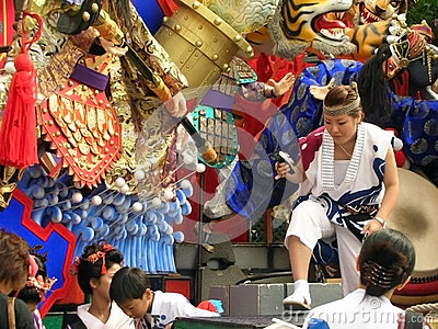 Japanese colorful summer festival Editorial Image
