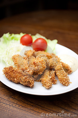 Japanese Cuisine, kakifurai  (Deep-fried oysters)