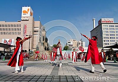 Japanese Daihanya Festival Dancers Editorial Photography