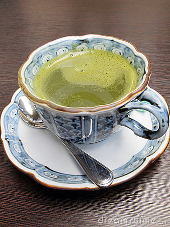 Japanese dark green tea