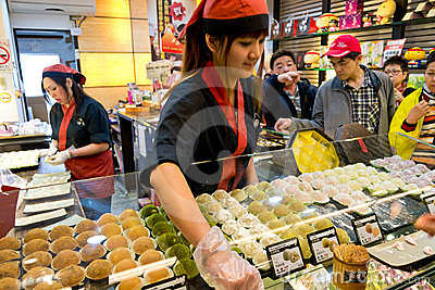 Japanese dessert shop in Jiufen vintage market Editorial Photography