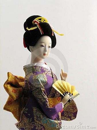 Japanese Doll with Fan