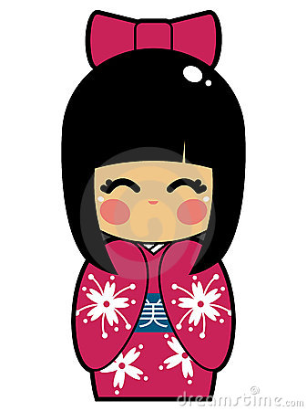 Free Japanese Doll Vector EPS Royalty Free Stock Photo - 14997805