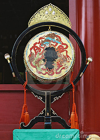 Free Japanese Drum In Temple In Kamakura. Royalty Free Stock Photography - 687467