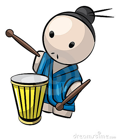 Japanese Drummer Man Traditional Culture