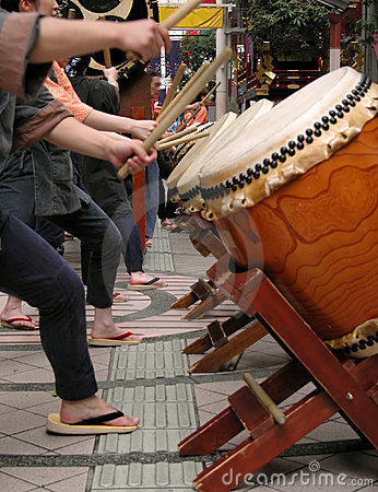 Free Japanese Drums Show-action Detail Royalty Free Stock Photo - 1024535