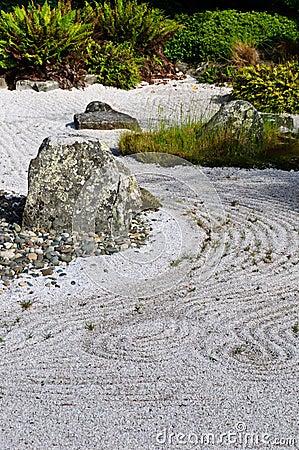 Japanese dry rock garden