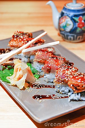 Free Japanese Eel Grill On Rice Stock Image - 104101621