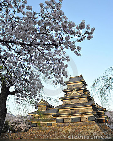 Japanese famous tourist spot matsumoto castel