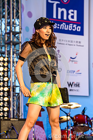 Japanese Fashion Show from JAPAN in Japan Festa in Bangkok 2013. Editorial Stock Photo