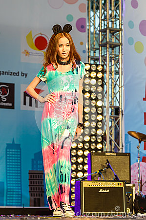 Japanese Fashion Show from JAPAN in Japan Festa in Bangkok 2013. Editorial Image