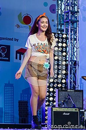 Japanese Fashion Show from JAPAN in Japan Festa in Bangkok 2013. Editorial Stock Image