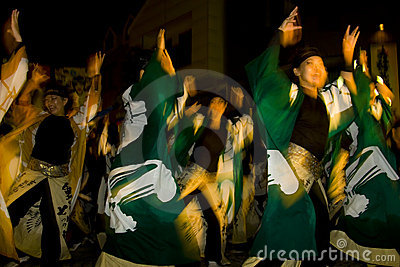 Japanese female dancer festival maturi Editorial Image