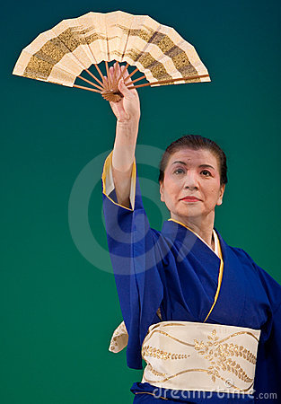 Japanese Festival Dancer Editorial Stock Image