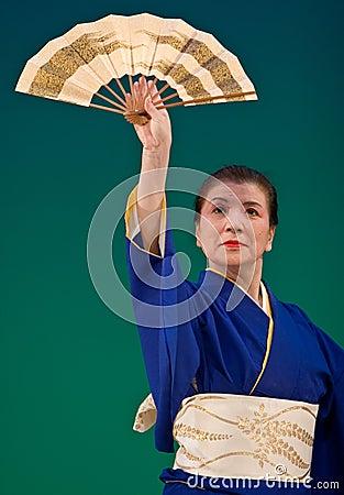 Japanese Festival Dancer Editorial Stock Image