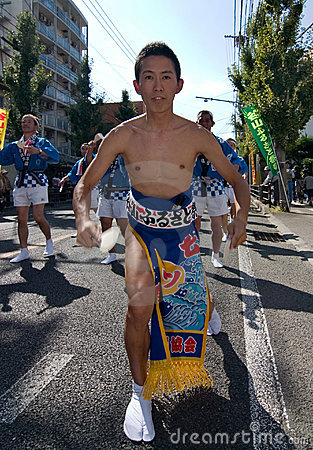 Japanese Festival Dancer Editorial Image