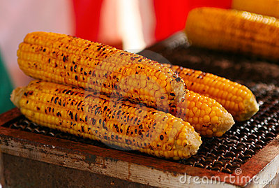Japanese festival food corn