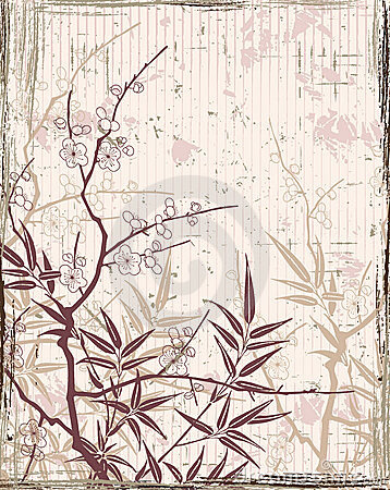 Free Japanese Floral Background Royalty Free Stock Photography - 8312207