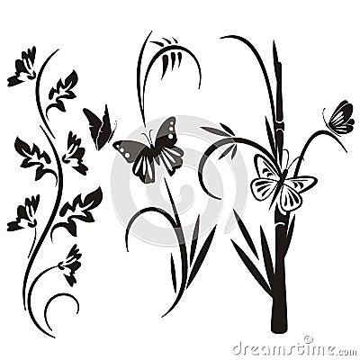 Free Japanese Floral Design Series Stock Image - 3096651