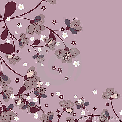 Floral Pattern with blossoms Japanese Floral Pattern