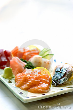 Japanese Food, Plate of Sashimi,