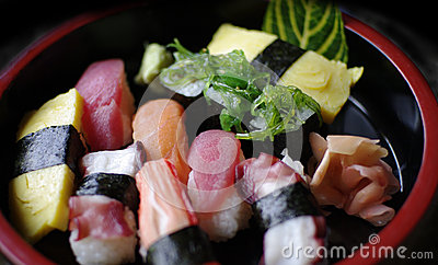 Japanese food sushi nigiri