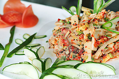 Japanese fresh fish salad