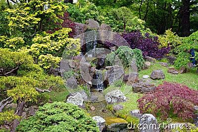 A Japanese garden art
