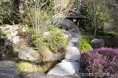 Japanese garden at Bellevue Botanical Garden