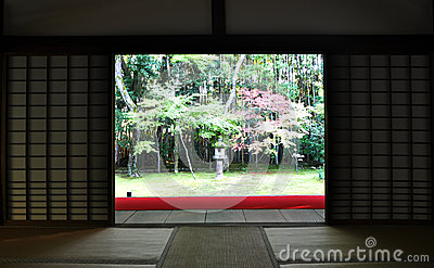 Japanese garden in the Koto-in temple - Kyoto, Japan