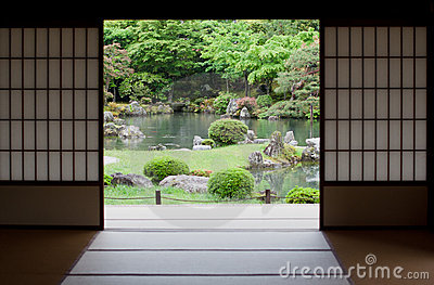 Japanese Garden In Kyoto, Japan Royalty Free Stock Photo - Image: 16405575