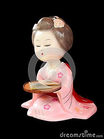 Japanese geisha statue