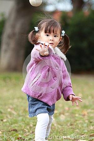 Free Japanese Girl Playing Catch Royalty Free Stock Photo - 108311865
