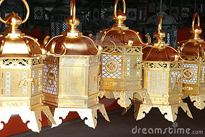 Japanese golden lanterns