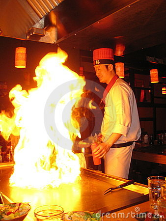 Free Japanese Hibachi Chef Royalty Free Stock Image - 18403506